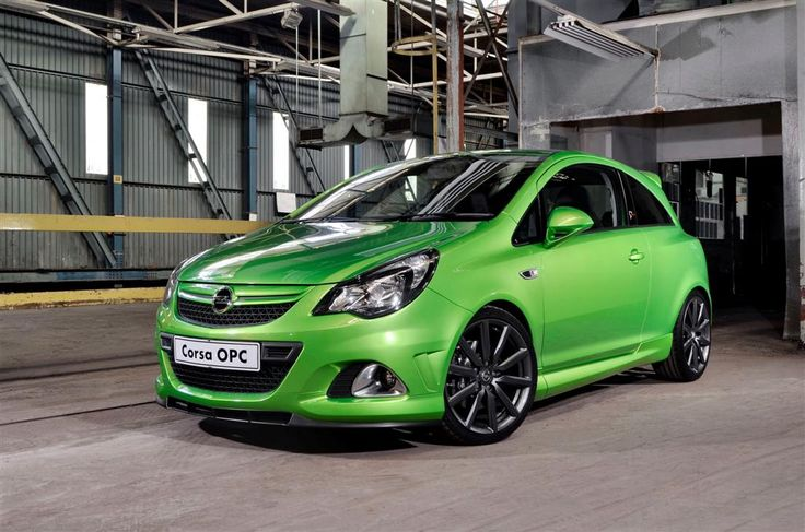 The Opel Corsa Nürburgring Edition in apple-green.