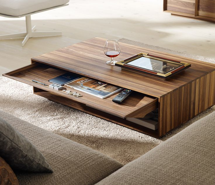 Stunning Décor Of Modern Coffee Table: Awesome Solid Wood Modern Coffee  Table Design In Living