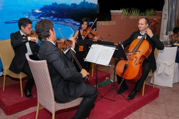 Consonus String Quartet At A Wedding Reception In Amalfi Coast Italy