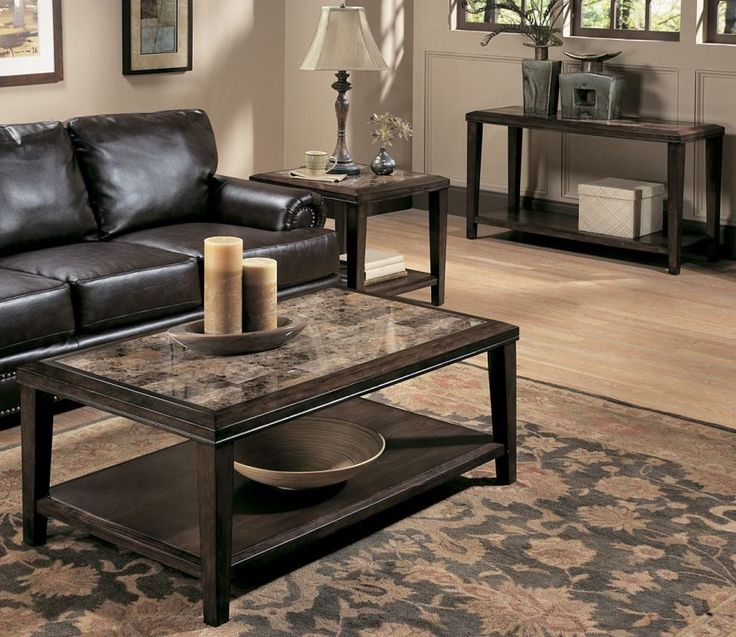 Furniture: Affordable Granite Coffee Table And End Tables Also Coffee Table  Base For Granite Top
