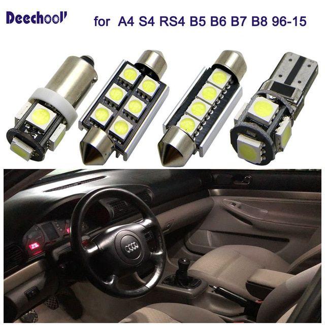 2x LED 501 T10 Canbus White COB 3D LED To Fit Side Light Audi A4 8EC B7