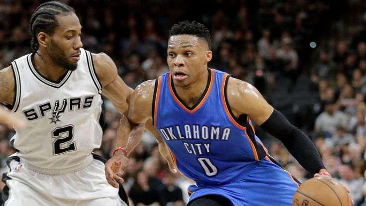 The NBA regular season is over and done with, and as the dust settles before the playoffs start this weekend, it's time to take stock of what looks like the closest MVP race since Steve Nash won his second consecutive award after the 2005-06 season. Russell Westbrook, Kawhi Leonard, James Harden, and LeBron James are in contention for the award, and an impromptu Washington Post straw poll of voters taken a month ago showed Harden with an edge over Westbrook.