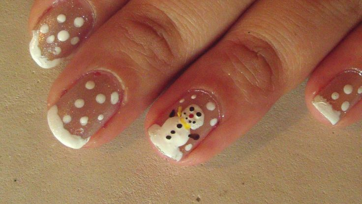 NaviColors: Nails Tutorial: Green Glitter & Snowman ♥ Chrismast Theme ♥ ~ Navi Colors