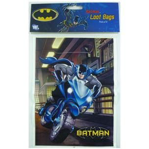 944 - Batman Loot Bags. Pack of 8   For more details, please go to www.facebook.com/popitinaboxbusiness