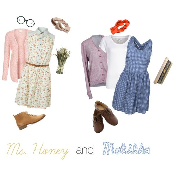 """Ms. Honey and Matilda"" costume by schaeffh on Polyvore"