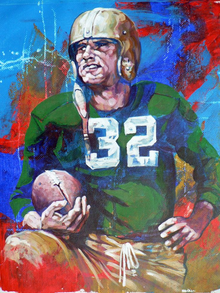 Johnny Lujack, 1947 Heisman Trophy winner,  University of Notre Dame by Robert Hurst