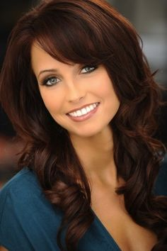 dark auburn hair color pictures | , Natural Dark Auburn. I was amazed that both my original hair color ...