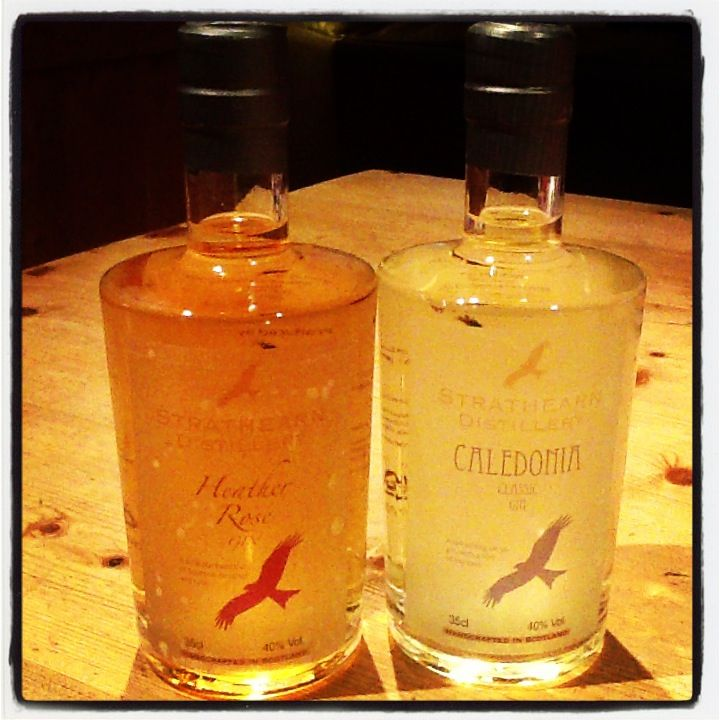 Scotland's newest gins from the Strathern Distillery in Perth www.stratearndistillery.com  The Caledonian Classic has a great star anise edge to it.