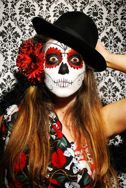maquillage sorciere mexicaine