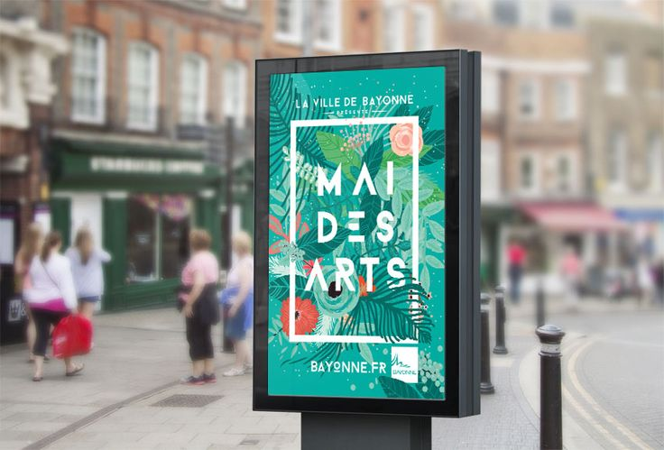 graphic design Poster - Mai des Arts pour la ville de Bayonne - Studio Waaz - affiche graphique