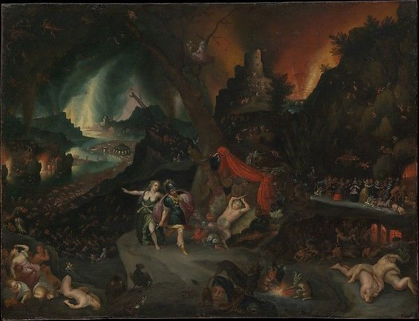 Jan Brueghel the Younger (Flemish, 1601–1678). Aeneas and the Sibyl in the Underworld, 1630s. The Metropolitan Museum of Art, New York. Gift of Mrs. Erna S. Blade, in memory of her uncle, Sigmund Herrmann, 1991 (1991.444) #halloween