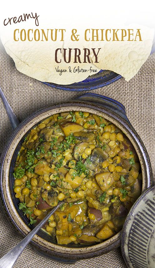 Creamy Coconut & Chickpea Recipe. Vegan, dairy-free, gluten-free and super…