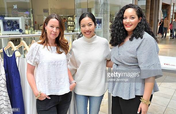 Genevieve Bishop and bloggers Anh Sundstrom and Tanesha Awasthi attend the Westfield x Who What Wear Presents Boss Notes at Westfield Valley Fair at...
