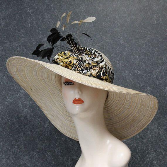 Creme Belmont Stakes Hat, Kentucky Derby Hat, Garden Party Hat, Tea Party Hat, Church Hat, Wedding Hat, OOAK 521