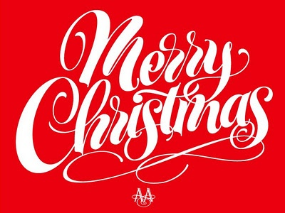 Alain Ariail: Holiday, Calligraphy, Art, Type, Typography, Merry Christmas, Hand Lettering
