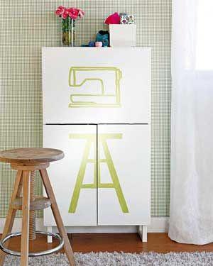 Tutorial para transformar un mueble en armario y costurero | Portaldelabores.com | Portal de labores