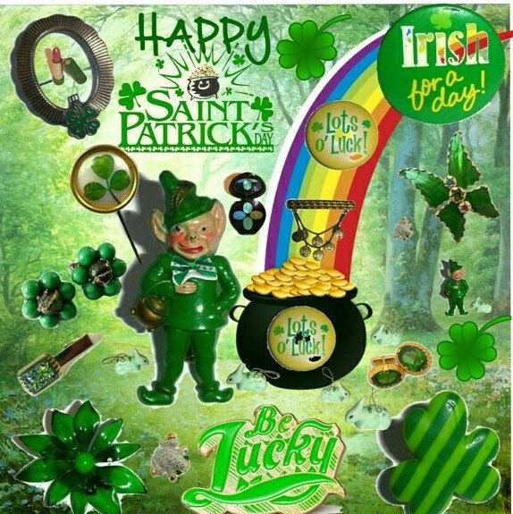 Happy Vintage St. PATRICK'S DAY!! 🍀For lots if great greenery & Irish gifts checkout my shop! Everything's ON SALE + use Coupon code SHAMROCKPOP @checkout to Save an Extra15% Off...#greengifts #stpatricksdaygifts #stpaddysdayjewelry #vintageshamrocks