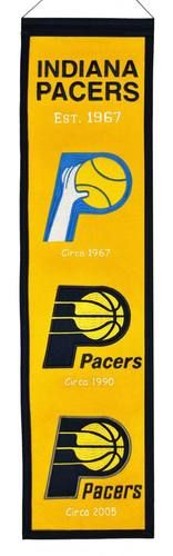 """Indiana Pacers Official NBA 8"""""""" x 32"""""""" Heritage Banner Flag Pacers Winning Streak"""