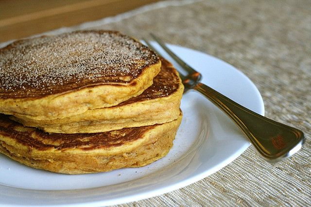Pumpkin Spice Pancakes      Ingredients:  1¼ cups all-purpose flour  2 tbsp. brown sugar  2 tsp. baking powder  ¼ tsp. salt  ¾ tsp. ground cinnamon  ¼ tsp. ground nutmeg  Dash of ground ginger  Dash of ground cloves  1 cup milk  ½ cup pumpkin puree  1 large egg  2 tbsp. vegetable oil or melted butter    Directions:  In a medium mixing bowl, combine the flour, brown sugar, baking powder, salt and spices and stir with a fork to combine. Mix together the milk, pumpkin puree, egg and oil or
