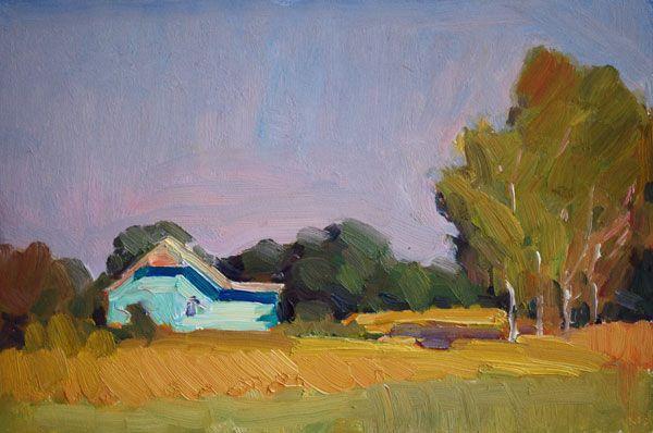 Lena Kurovska, oil on board, 20 x 30 cm