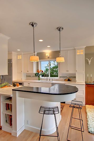 Classic kitchen with Savoy House lighting, Kallista faucet, Soapstone and Marble countertops by brio interior design #Seattle
