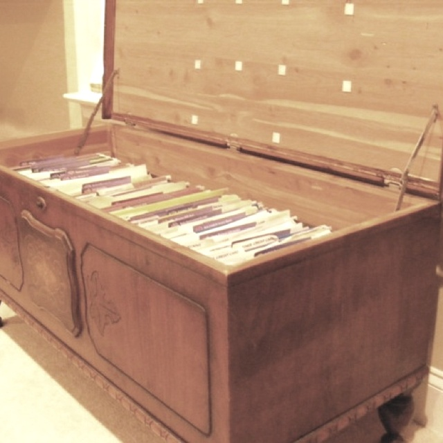 Bench Converted Into File Cabinet For The Home Pinterest