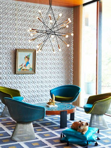 Platner chairs.... we actually have some of these is my current home. I am sitting in one right now.