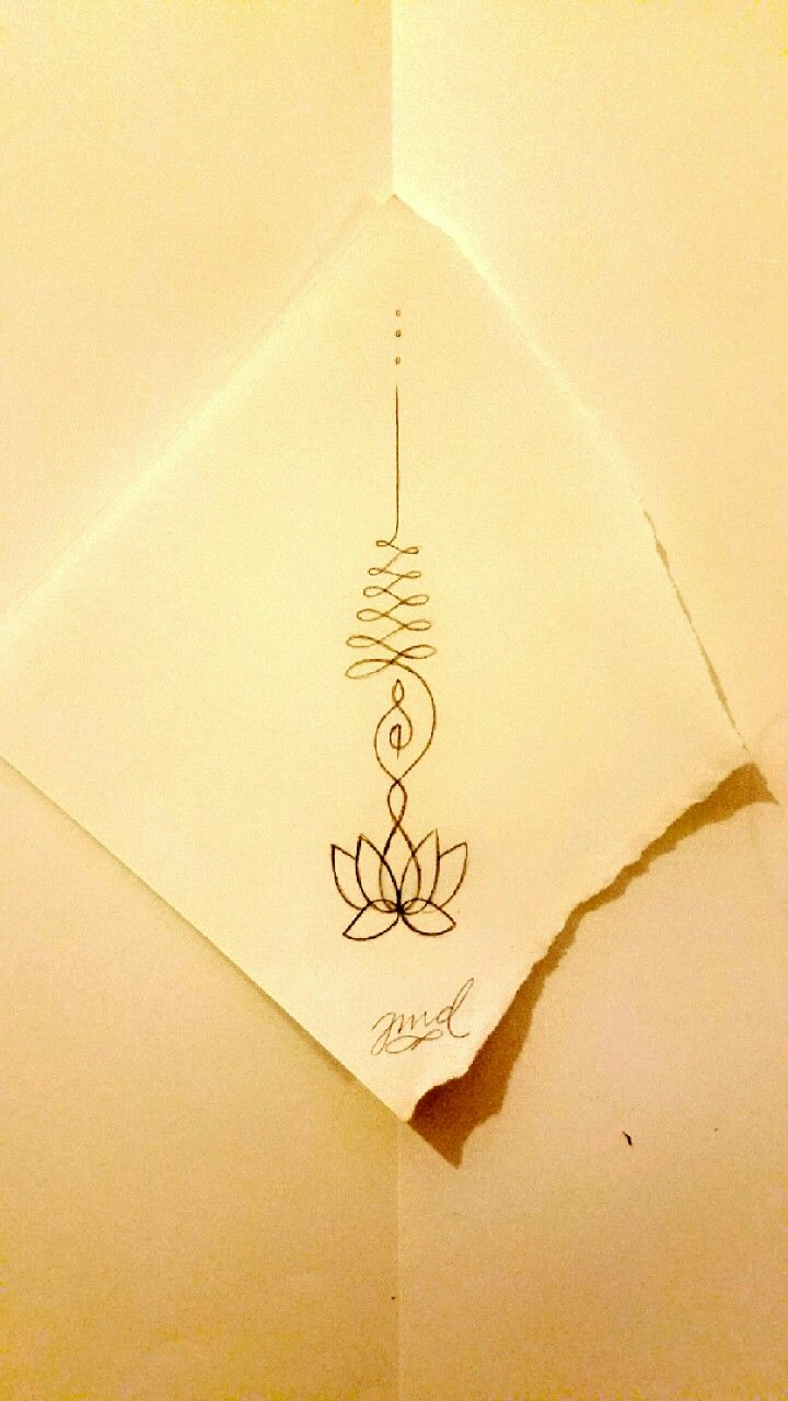 My personal unalome lotus design