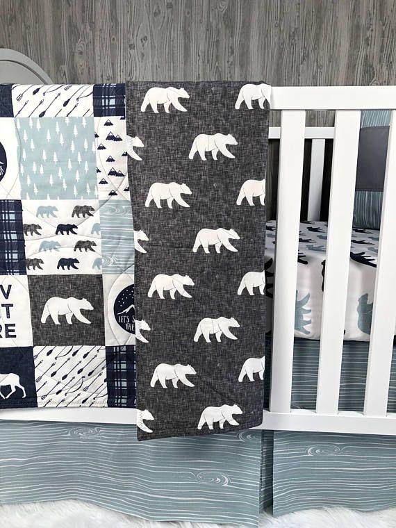 superb Moose Baby Bedding Sets Part - 6: Baby Nursery Bedding Set Baby Woodland Moose Nursery Bedding Sets Girl, Baby  Boy Bedding,