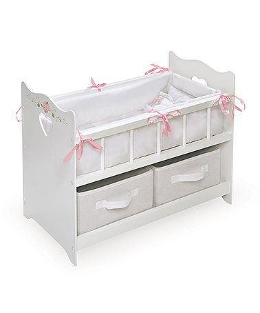 Look what I found on #zulily! White Rose Two-Basket Doll Crib #zulilyfinds