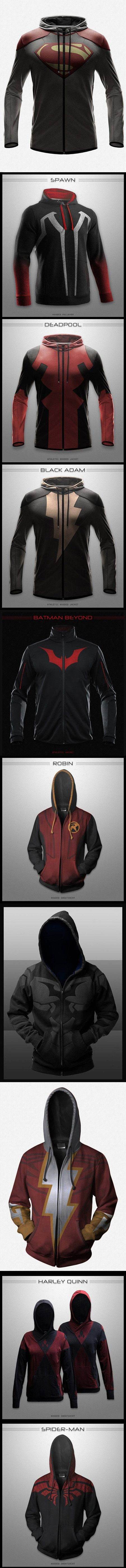 Most hoodies look boring, these geeky designs are definitely not.