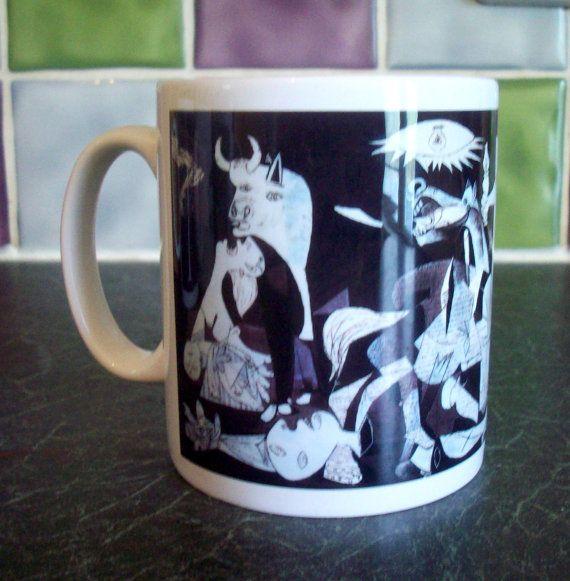 Picasso Guernica mug by GelertDesign on Etsy, £6.50