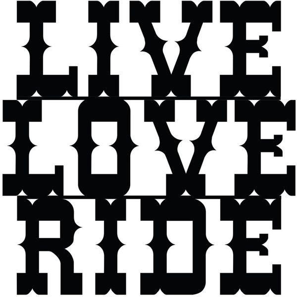 Live Love Ride Sign Home Decor Home Metal Art indoor/outdoor Wall ...