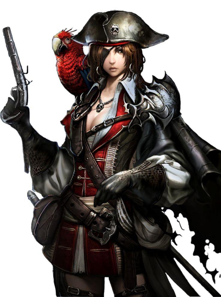 Tube femme pirate - Manga femme chat ...