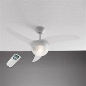 CLETTA plafondventilator met lamp, wit
