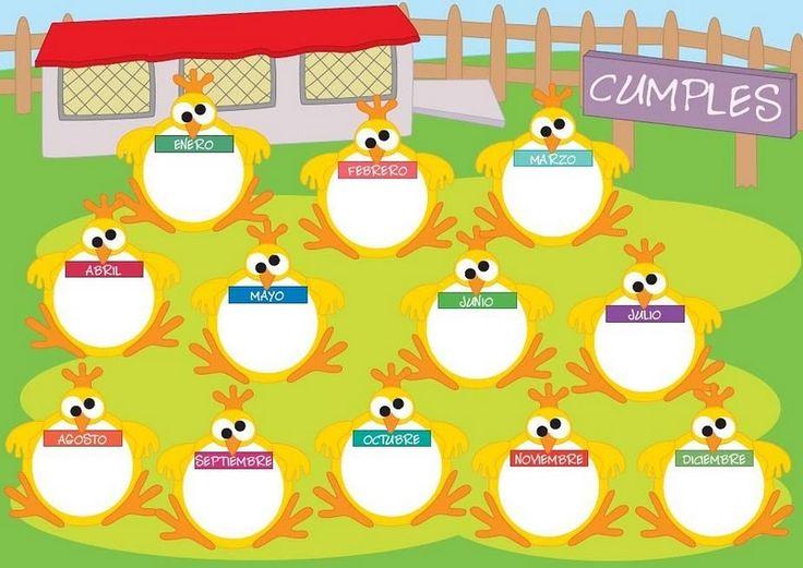 Resultado de imagen para calendario de cumpleaños clase