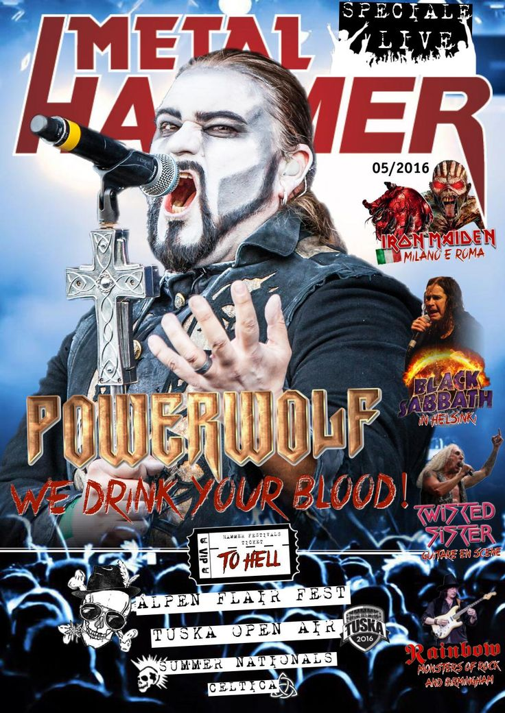 Metal Hammer Italia  - 05/16  On page 50 my images of the concert of Jane's Addictions at Fabrique, Milan