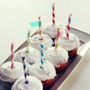 Pretty pretty birthday cupcakes!
