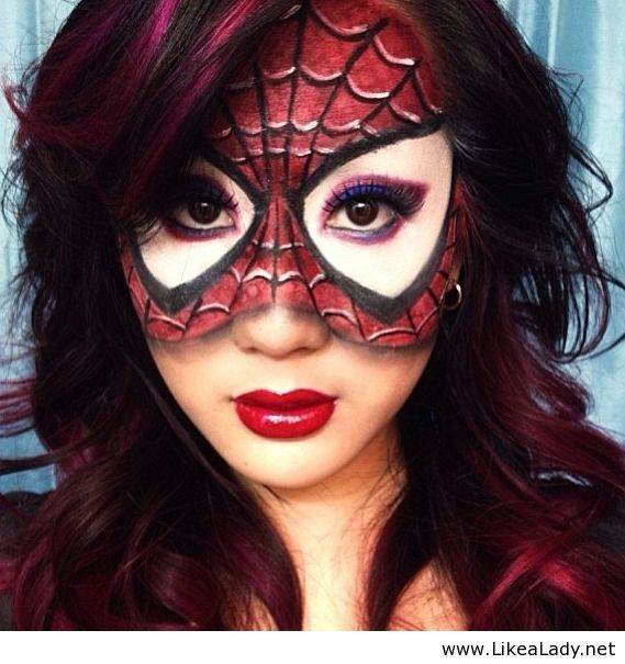Spiderman mask - Halloween 2013