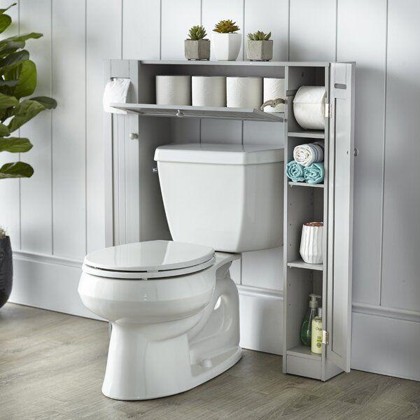 The Twillery Co Eleanor 34 1 W X 38 3 H X 6 5 D Over The Toilet Storage Wayfair Toilet Storage Small Bathroom Storage Space Savers