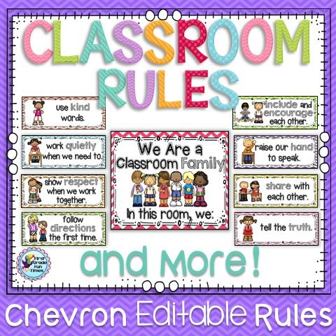 25+ best ideas about Classroom rules display on Pinterest ...