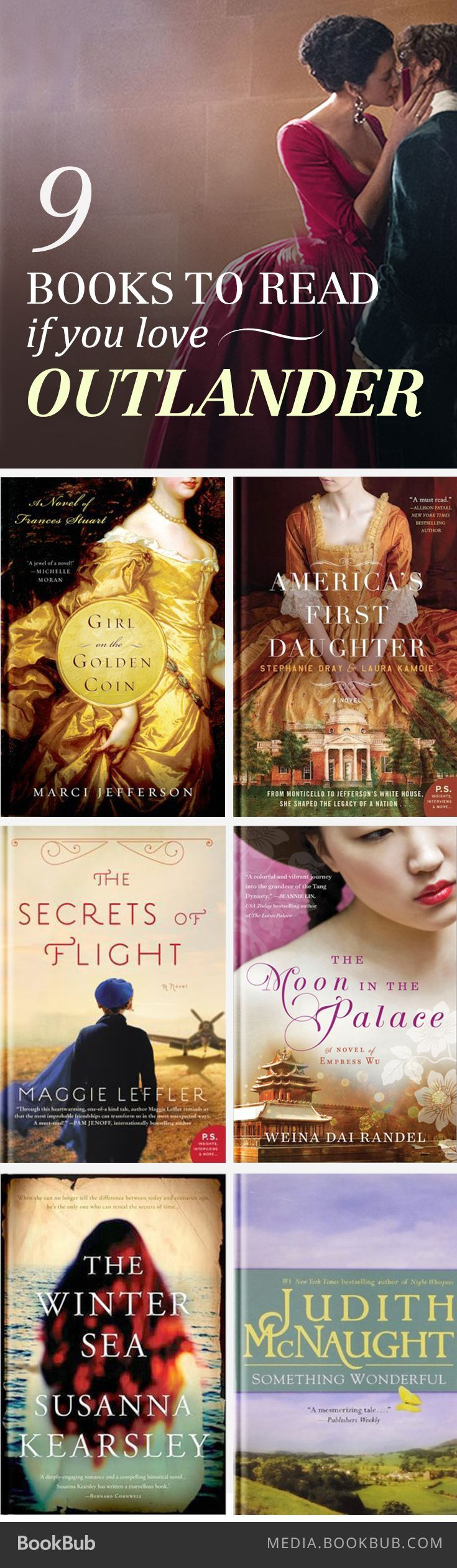 If you love Diana Gabaldon's Outlander, check out these 9 outstanding book recommendations. (scheduled via http://www.tailwindapp.com?utm_source=pinterest&utm_medium=twpin&utm_content=post189551073&utm_campaign=scheduler_attribution)