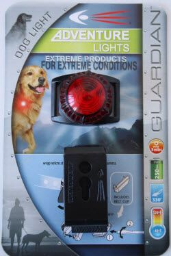 Adventure Lights - Available in different colours, water proof to 100m, steady light or can continuously blink, comes with battery, clips onto collar