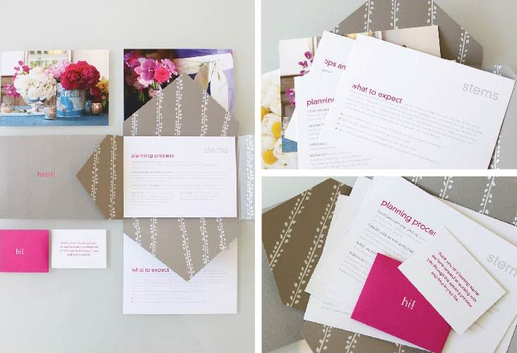 Awesome welcome packet: Color Splash, Welcome Packet, Thank You Cards