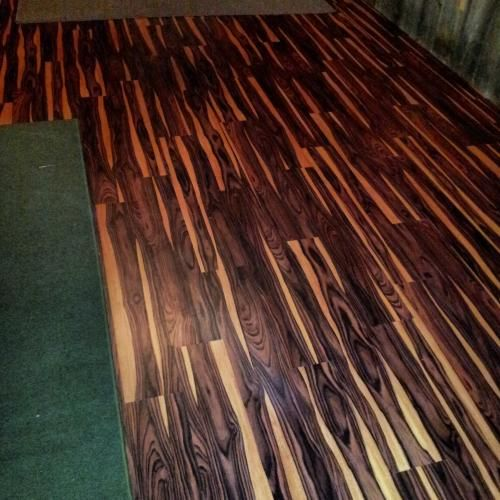 TrafficMASTER Allure 6 In X 36 African Wood Dark Luxury Vinyl