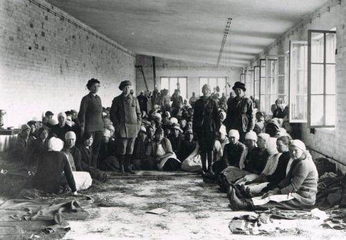 Female Red Guards soldiers of the Finnish Civil War who have been taken as prisoners, 1918, Finland