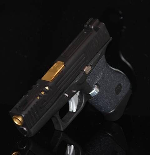 Glock 43 same custom design in black   Slide Machining ...