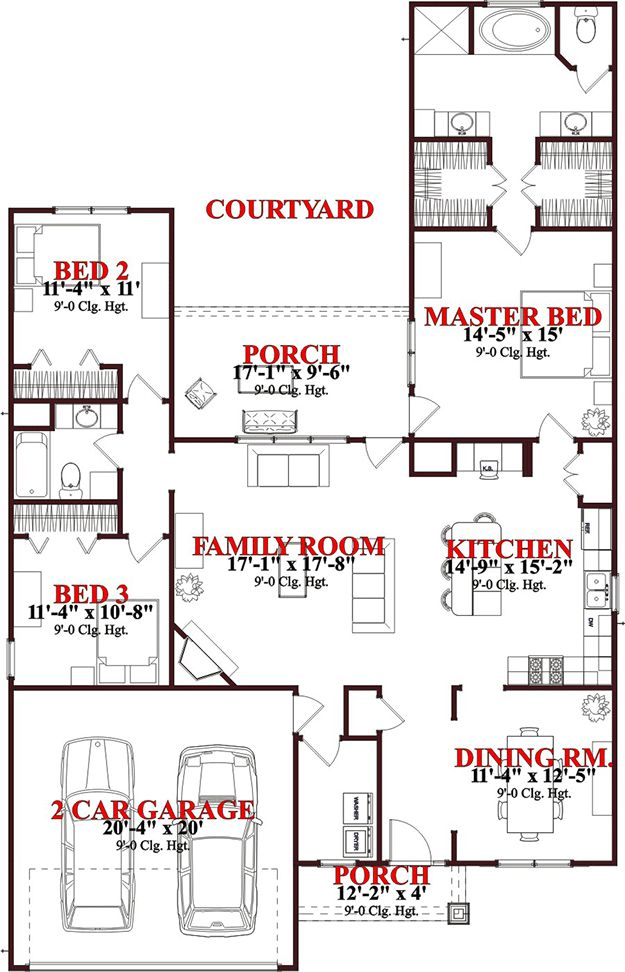 House Plan 1070 00133   Craftsman Plan: 1,787 Square Feet, 3 Bedrooms, 2  Bathrooms