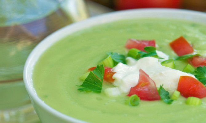 Chilled Avocado and Cucumber Soup Recipe