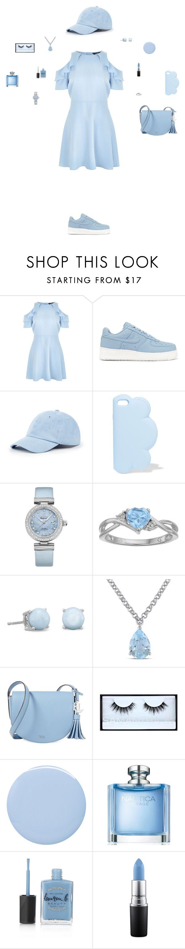 """Untitled #54"" by mayashmila ❤ liked on Polyvore featuring New Look, NIKE, Sole Society, STELLA McCARTNEY, OMEGA, Amour, Lauren Ralph Lauren, Huda Beauty, Deborah Lippmann and Nautica"
